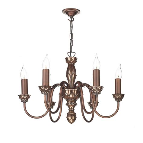 Traditional Ceiling Lights Uk 6 Light Copper Ceiling Pendant Light For Tradtional Period Homes
