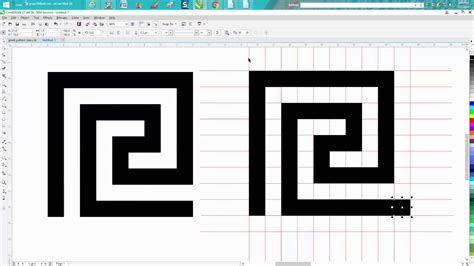 square pattern coreldraw corel draw tips tricks greek pattern square one youtube