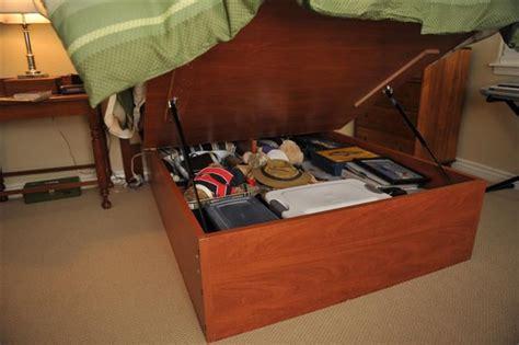 Platform Storage Bed With Lifting Mechanism Platform Lift Storage Bed Traditional Bedroom