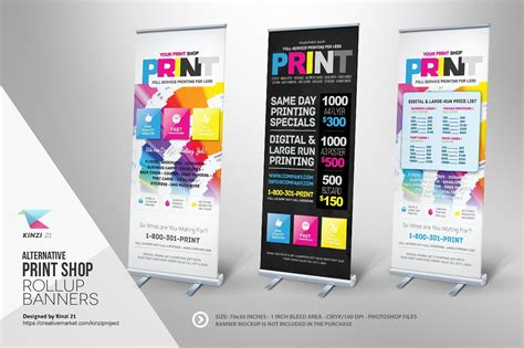 print shop template print shop roll up banner templates templates creative