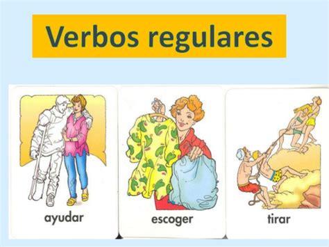 imagenes de verbos en ingles regulares verbos regulares 5 176 a y b