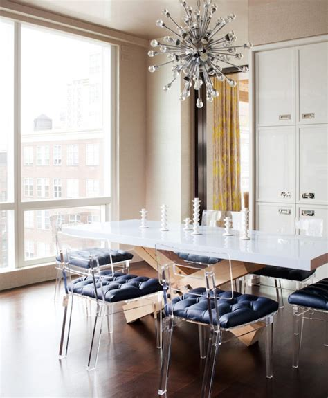 Design For Lucite Dining Chairs Ideas Lucite Chairs Modern Dining Room Amanda Nisbet Design