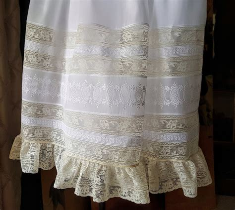 Stradivarius Ruffled Top With Swiss Embroidery all lace yoke heirloom dress with swiss embroidery embellished