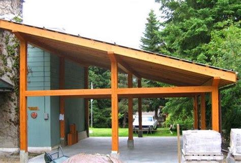 inspiring carport ideas attached  house wood