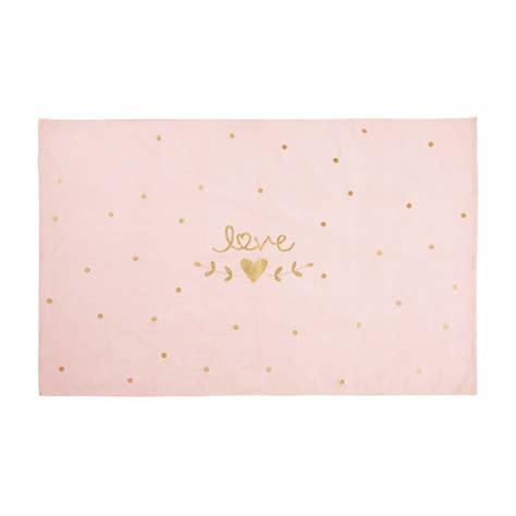 tappeto rosa tappeto rosa e dorato in cotone stato 120x180 cm lilly