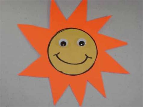 How To Make A Paper Sun - how to make a construction paper sun ep
