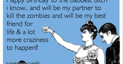 Happy Birthday Best Friend Meme - bestie s birthday zombies sayin stuff pinterest