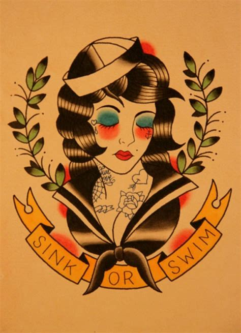 tattoo old school old school navy pin up girl tattoo
