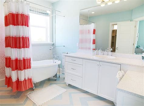 blue and coral bathroom revitalized luxury 30 soothing shabby chic bathrooms