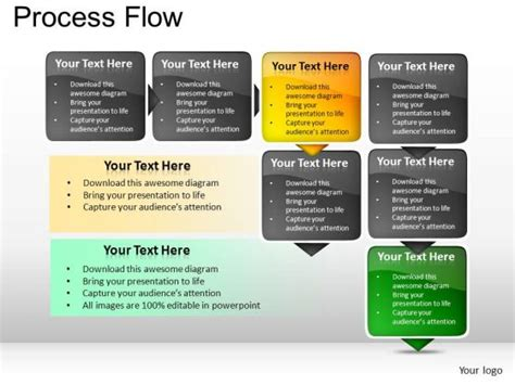 process flow template powerpoint business process template powerpoint mershia info