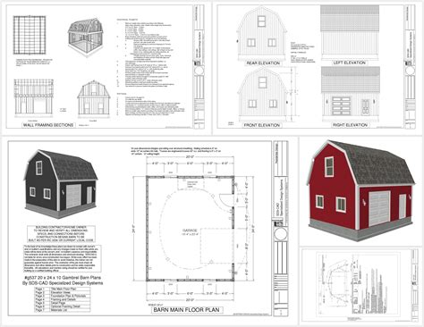 fliese 10 x 20 g537 20 x 24 x 10 gambrel barn sds plans