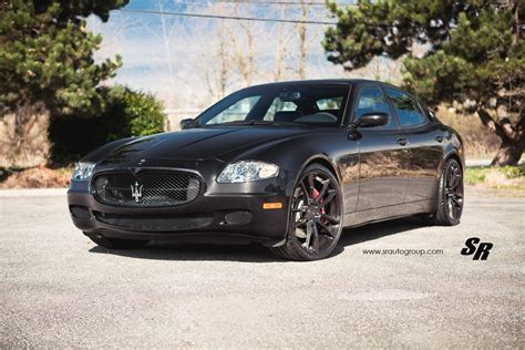 Black Maserati Quattroporte by Black Maserati Quattroporte With Black Pur Wheels
