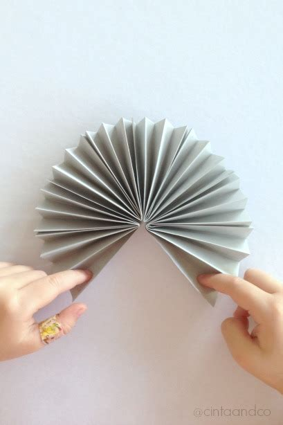 Origami Paper Fan - paper fan bunny craft housing a forest