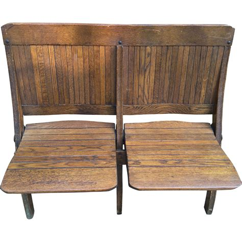 bench oak antique oak 2 seater folding bench brunswick seating