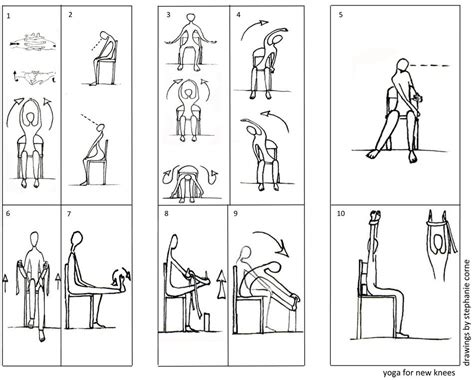 printable exercise routines for seniors chair yoga exercises knees laura staton yoga pinterest