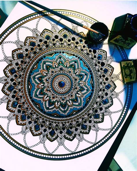 mandala tattoo artist uk intricate mandalas gilded with gold leaf by artist asmahan