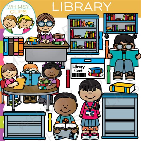library clipart images school library clip images illustrations whimsy