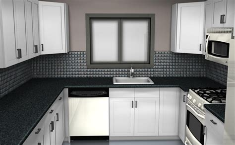 Black And White Kitchen Backsplash by Black And White Tile Kitchen Ideas Kitchen And Decor