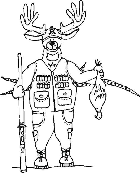 free printable hunting coloring pages for kids