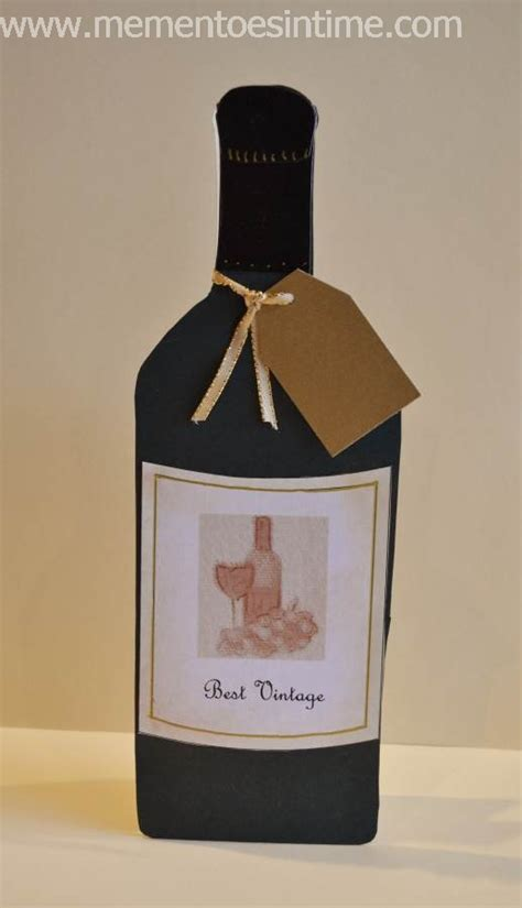 Wine Bottle Card Template by Cards Mementoes In Time