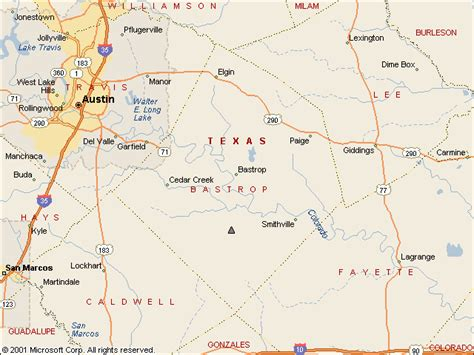 where is bastrop texas on the map usgs water resources of the united states