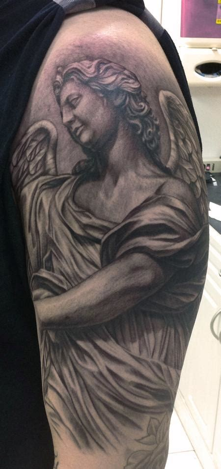angel statue tattoo the gallery for gt statues tattoos