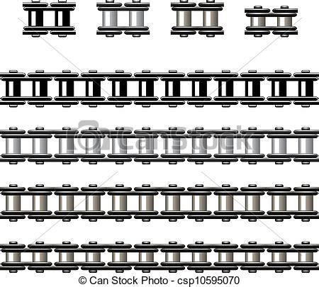 Bike Chain Outline by Vectors Illustration Of Vector Bicycle Chain Seamless Csp10595070 Search Clipart Illustration
