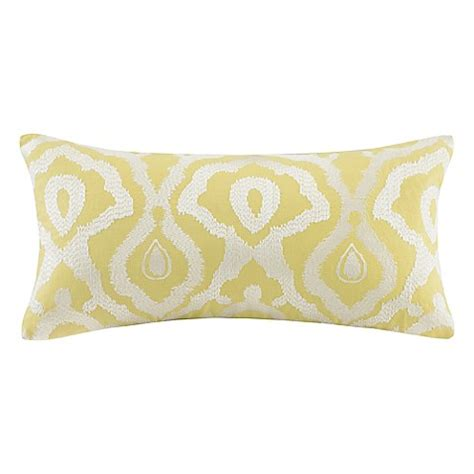 yellow bed pillows echo design indira oblong throw pillow in yellow bed bath beyond