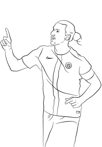 zlatan ibrahimovic manchester united player coloring page
