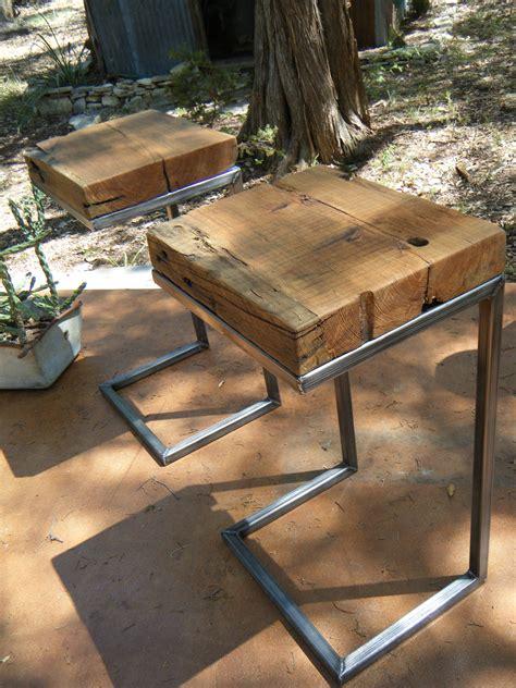 modern rustic side table 100 years longleaf pine