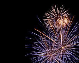 free celebration fireworks powerpoint template | free