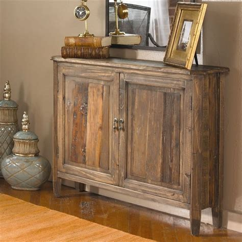 reclaimed salvage fir wood console storage cabinet rustic