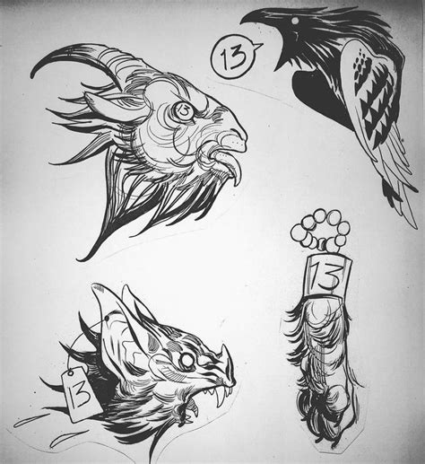 tattoo drawings designs and sketches 130 flash for friday the 13th tomorrow