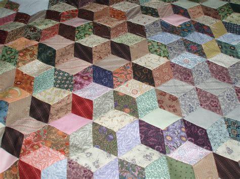 Tumbling Blocks Patchwork - tumbling blocks quilt in progress rosyragpatch s