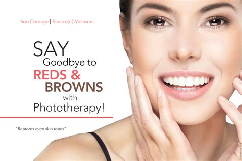 phototherapy for reds and browns skinpossible laser