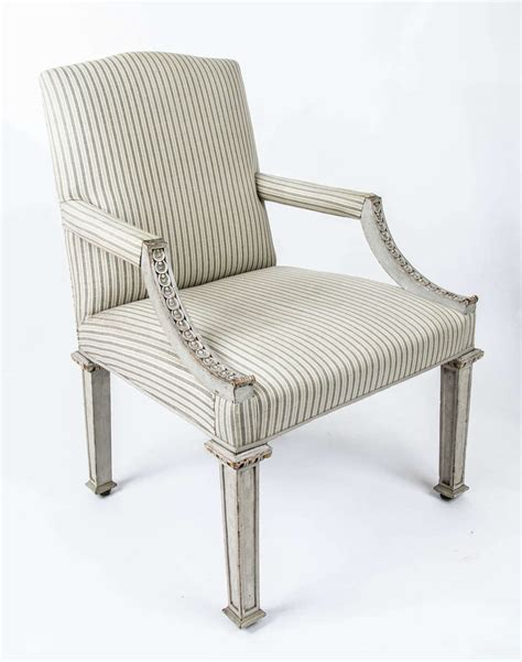 swedish armchair swedish painted gainsborough armchair for sale at 1stdibs