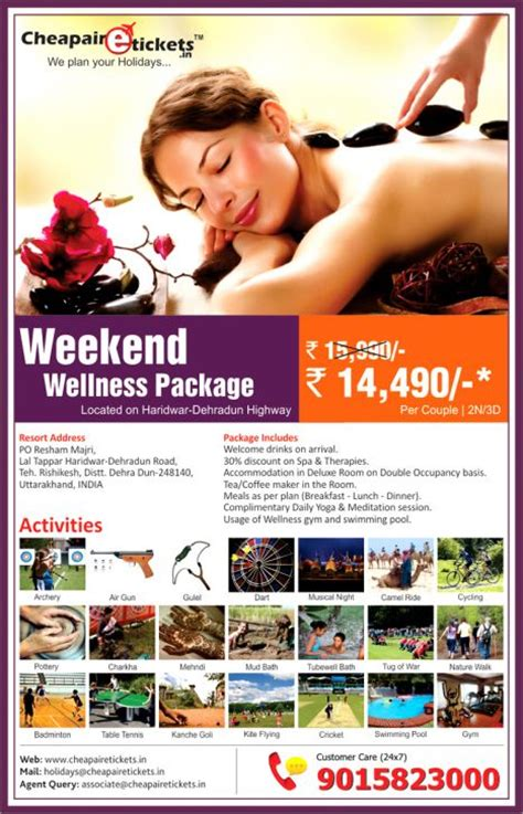 cheapairetickets in introduces wellness weekend packages