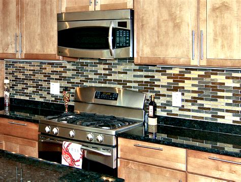 rectangular backsplash tile custom kitchen backsplashes by dominion best homes in