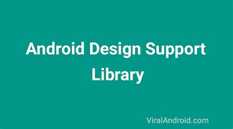 android ui pattern library android material design with design support library