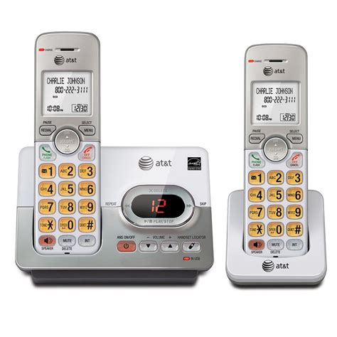 at t dect 6 0 2 handset cordless home phone digital