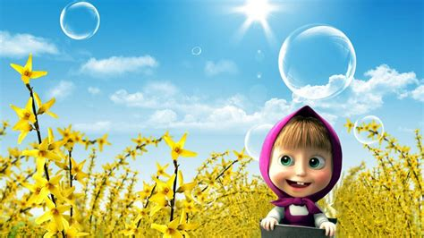 wallpaper kartun hd masha and the bear film animation cartoon hd