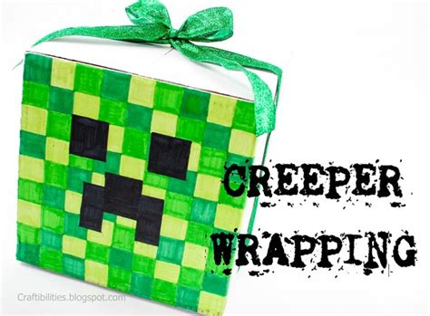 free printable minecraft wrapping paper minecraft wrapping creeper bonus head you can wear