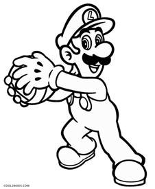 luigicoloring pages printable luigi coloring pages for cool2bkids
