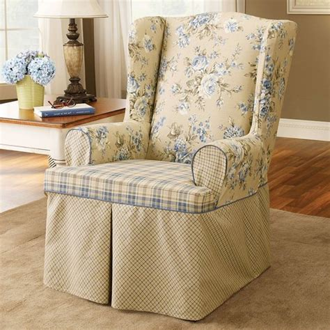 reclining wingback chair slipcovers slipcovers for wingback chairs jcpenney