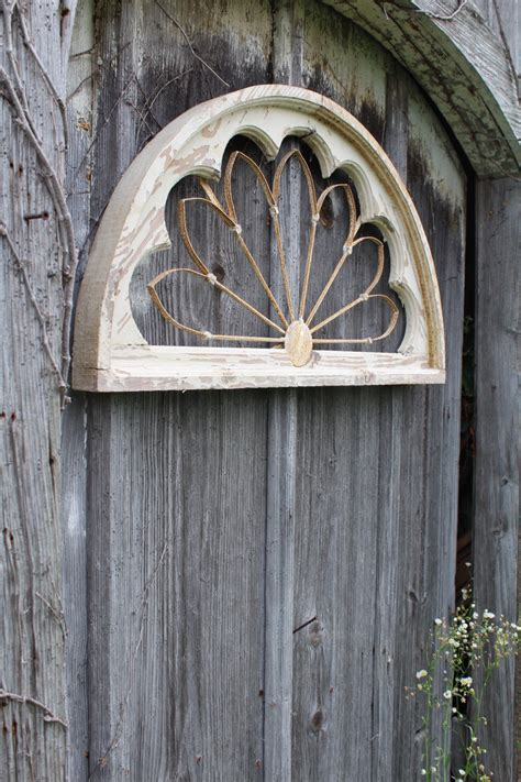 16 quot arched wood and iron wall decor