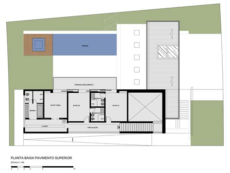 Floor Plan Of Modern House galeria de casa sf studio guilherme torres 15