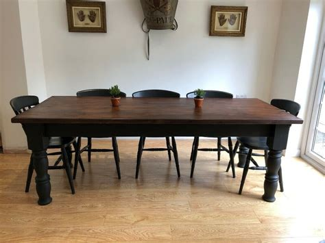 large solid farmhouse dining table cm long ft