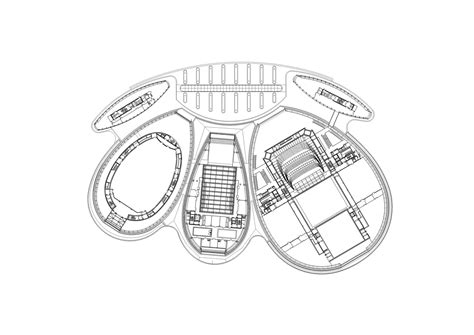 organic floor plan new opera in jinan paul andreu architecte archdaily
