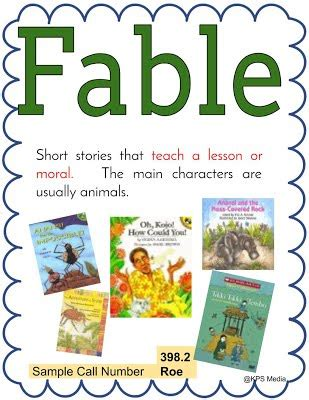 biography genre define fable genre for kps