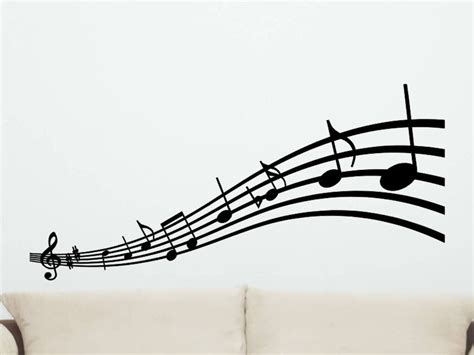 Musical Notes Decorations by Musical Notes Wall Decal Style 2 Wall Decor Notes